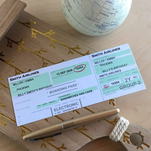 Printable Airplane Party Invitation
