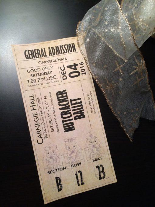 Ballet Ticket Nutcracker