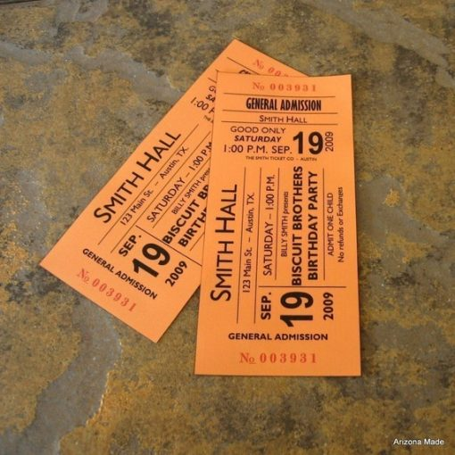 Concert Ticket Gift card