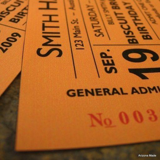 Concert Ticket Up Close