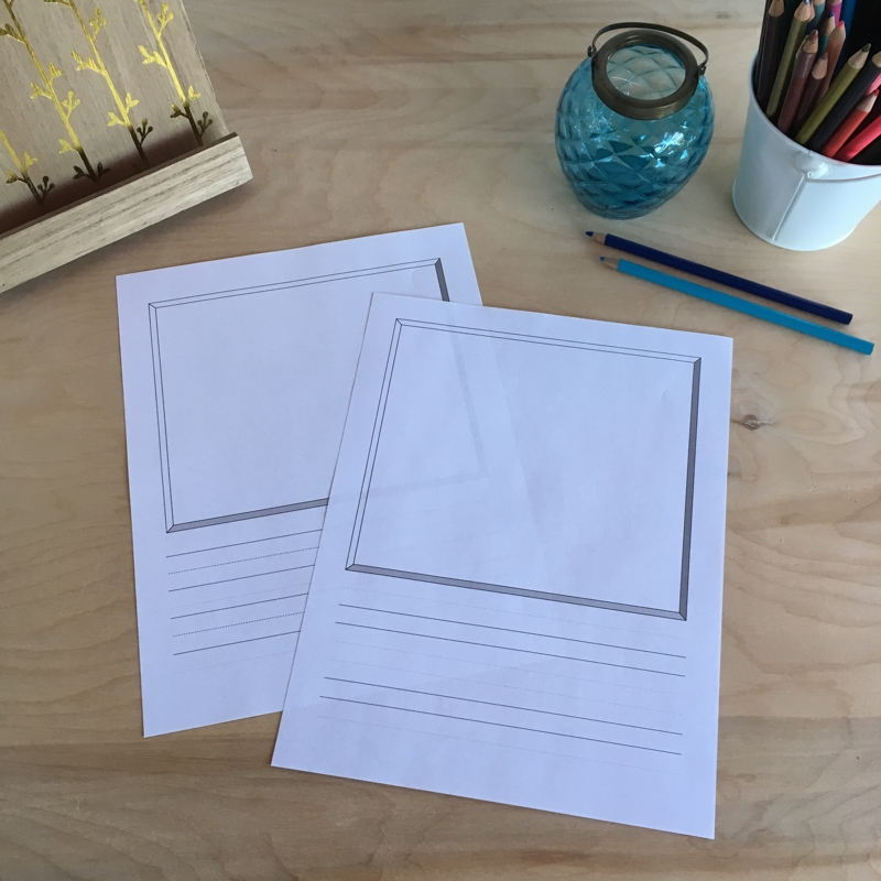 Draw and write paper