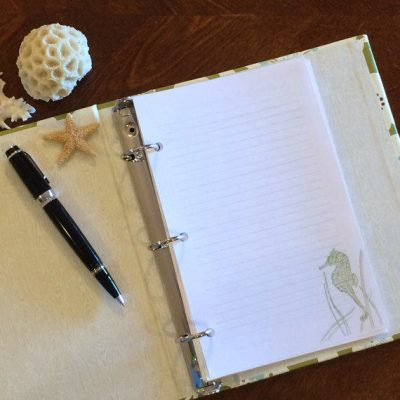 Lined Seahorse Note Paper