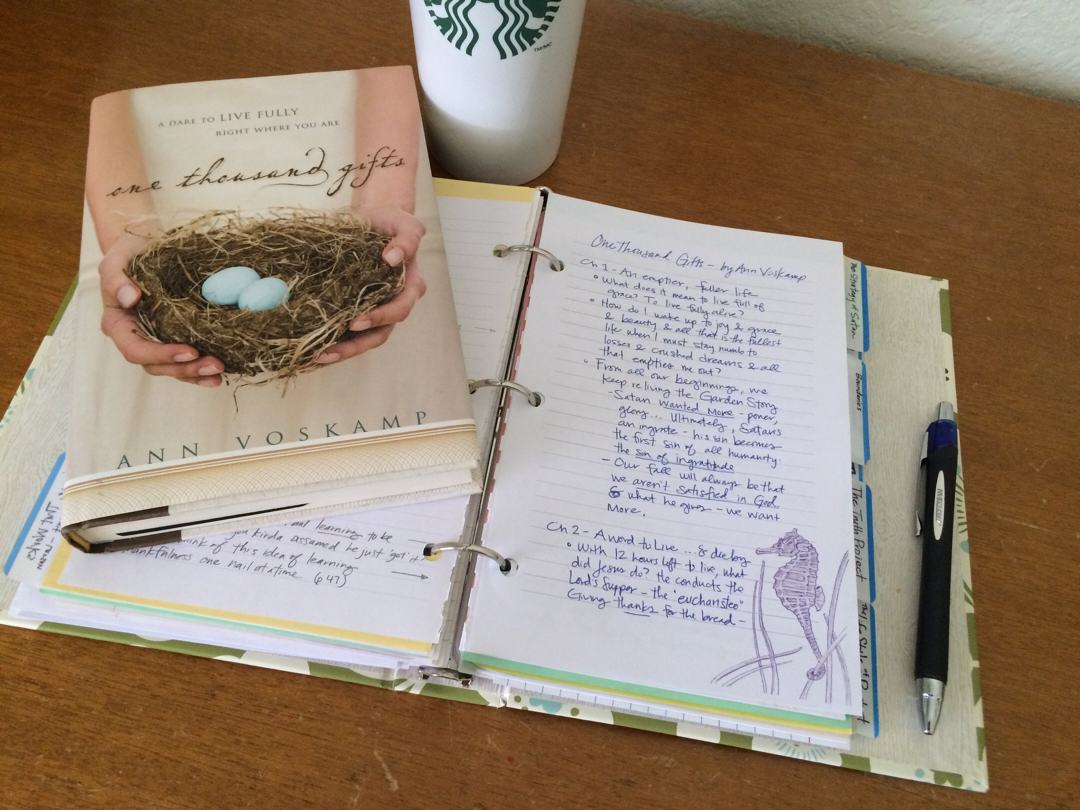 1000 Gifts Book Journaling