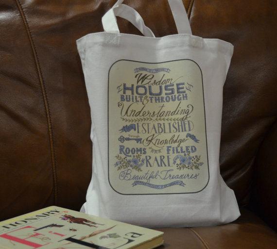 Proverbs 24 Tote Bag