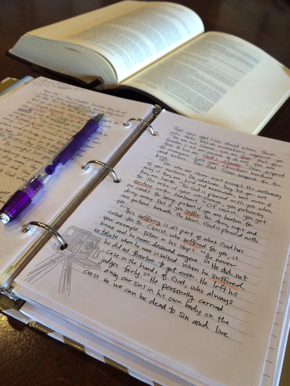 Write Scripture Journal I Peter 2:21