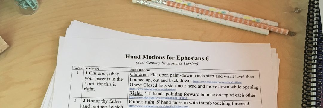 Ephesians 6 Hand Motions for Easier Memorization