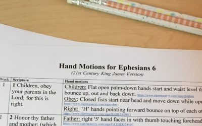 Ephesians 6 Hand Motions for Easier Memorization