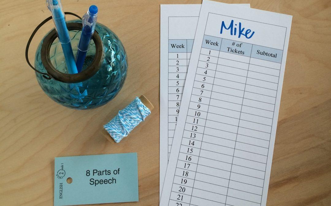 Tally Sheet Tickets for Grammar