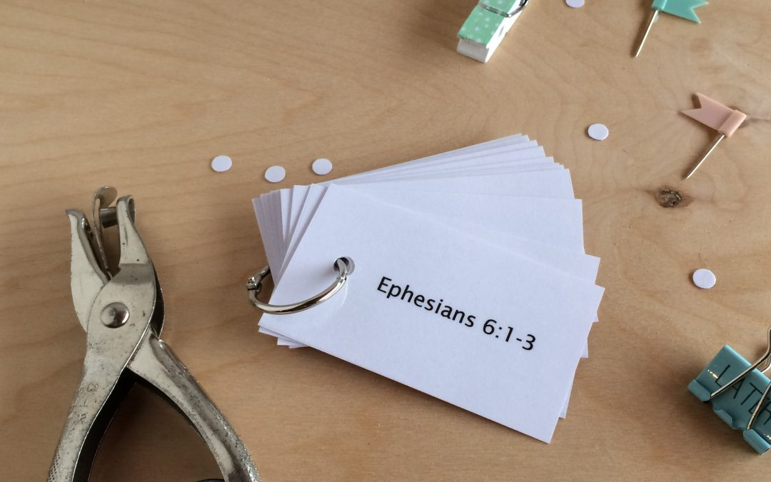 How to Memorize Ephesians 6, Easy Peasy
