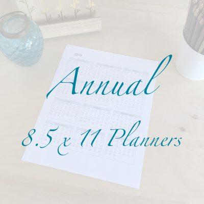 Annual 8.5 x 11 Planners