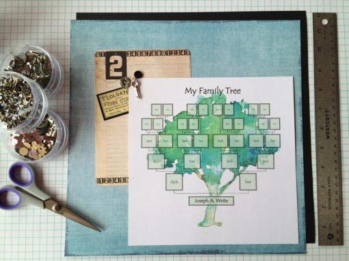 Printable Editable family tree