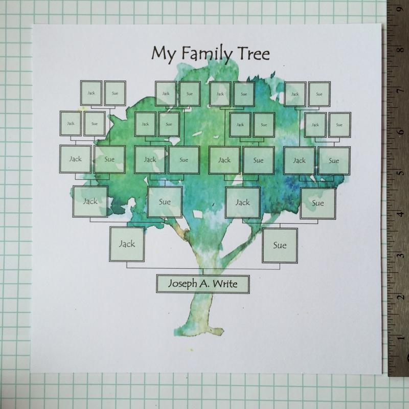 Family Tree Template Painted Tree Ridge Light Ranch