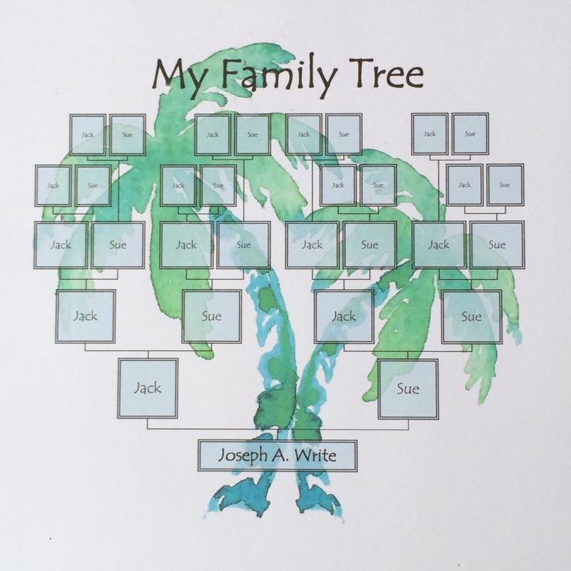 Family Tree Template Palm Tree Ridge Light Ranch