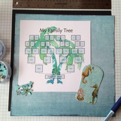 Family palm tree