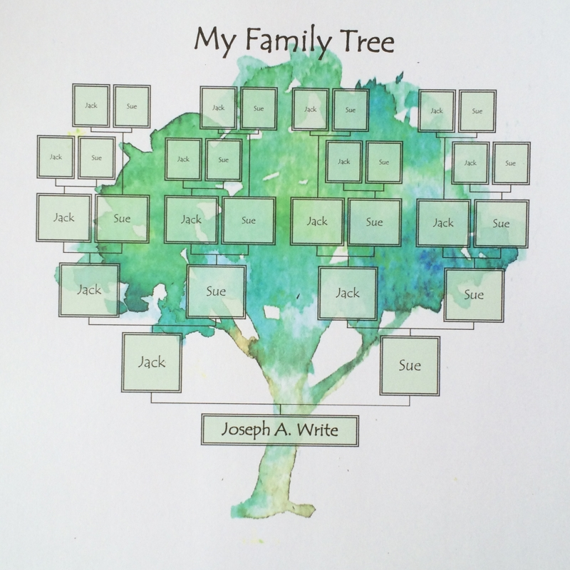 Family Tree Template Painted