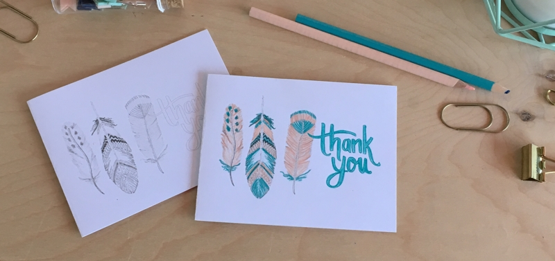 Free Feathers Thank You Card