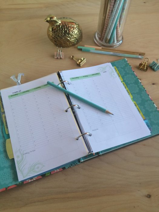 Customizable planners