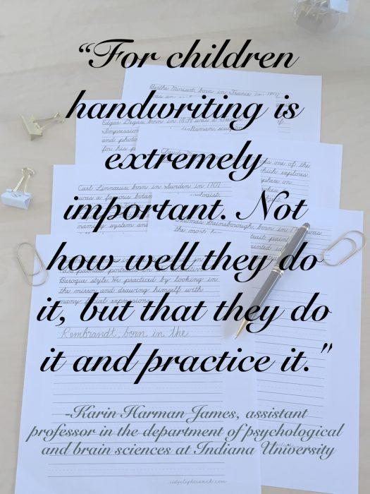 Handwriting quote