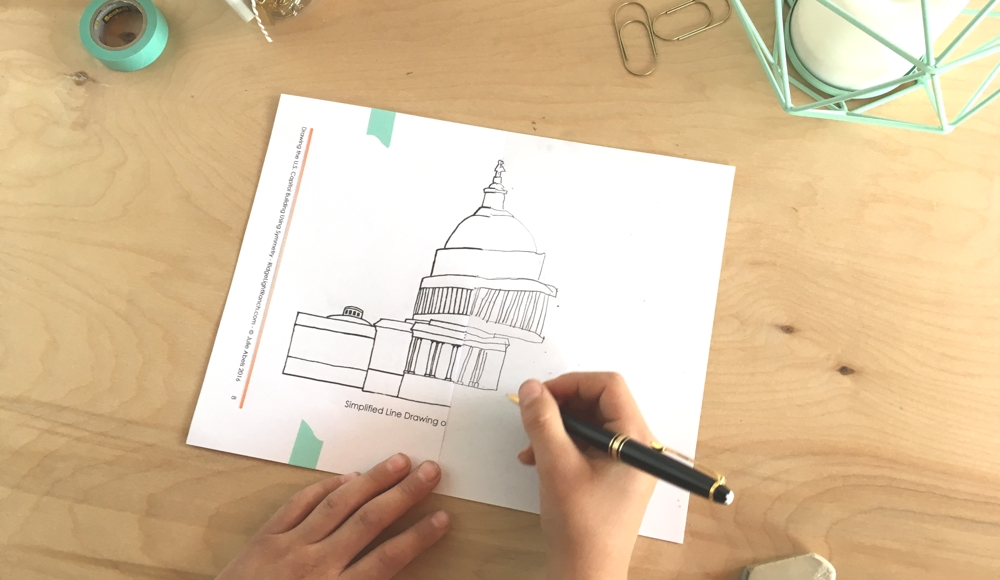 Drawing the U.S. Capitol Building Using Symmetry (C3W2)