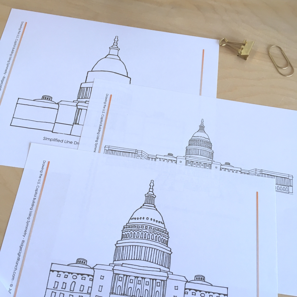 Drawing the US Capitol Building