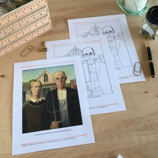 Line Drawings of American Gothic