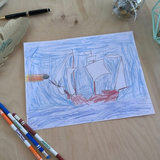 Learn to draw a ship for kids