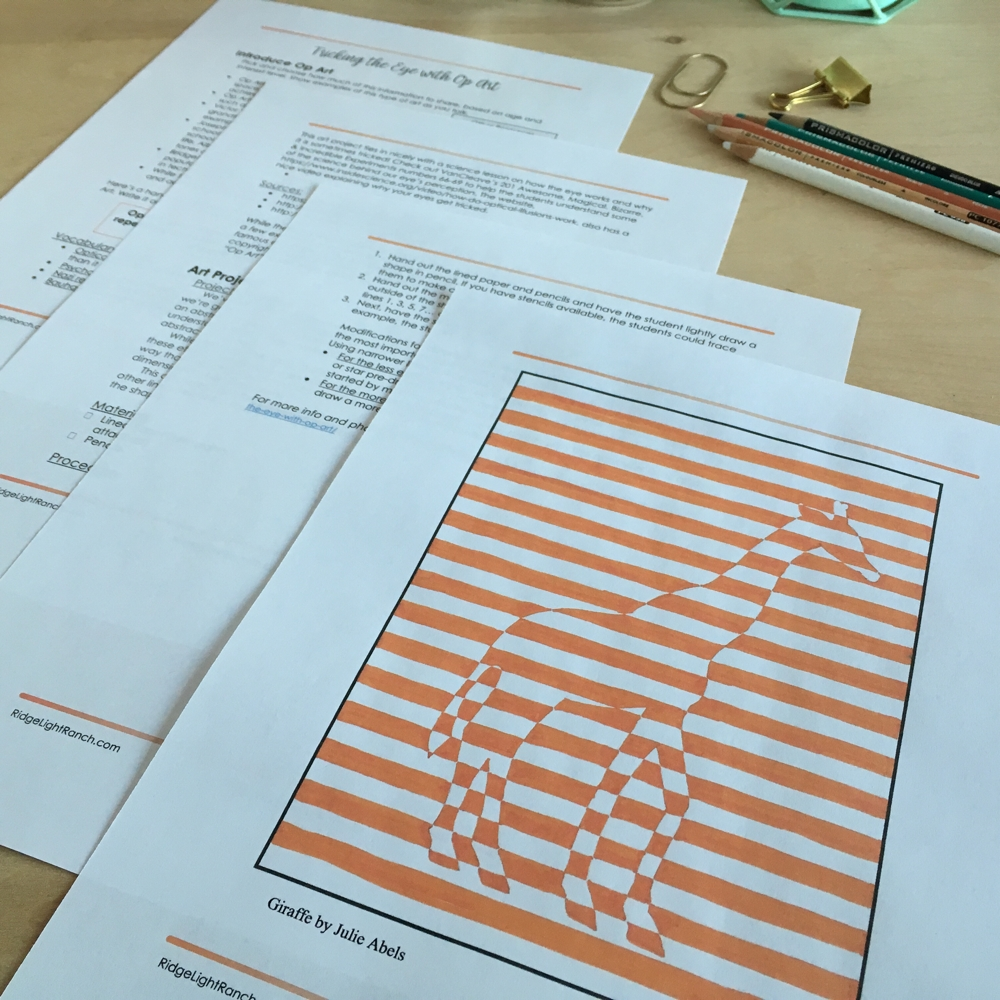 Learning perspective with op art