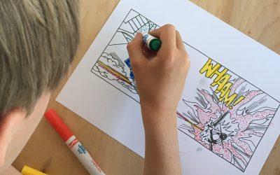 Using Primary Colors Like Roy Lichtenstein (C3W17)