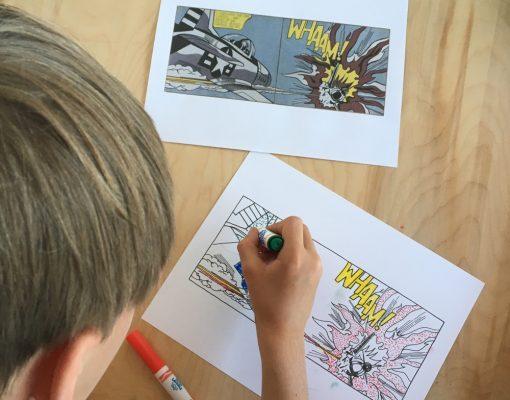 Lichtenstein art lesson