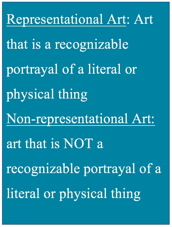 Definition of nonrepresentational art