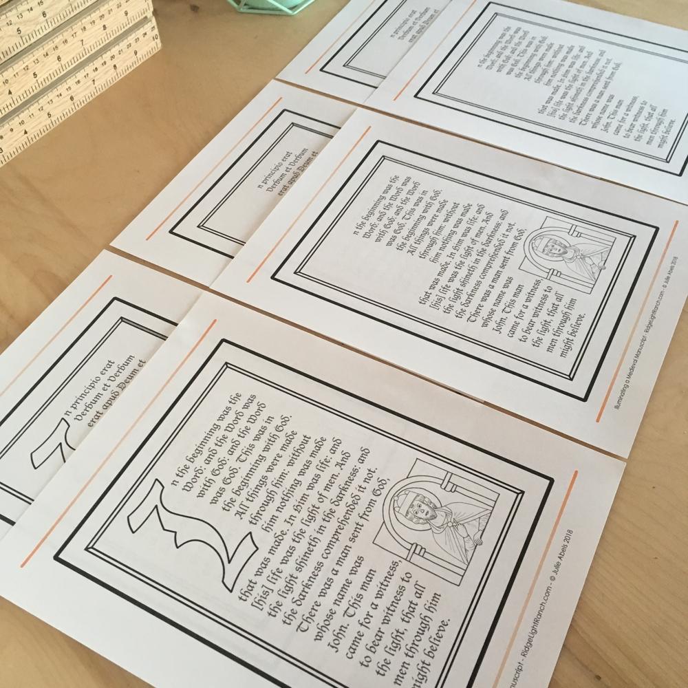 Illuminating a Medieval Mcript- C1W6 Lesson Plan on