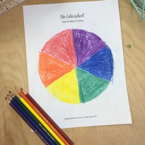 Color Wheel Art Project