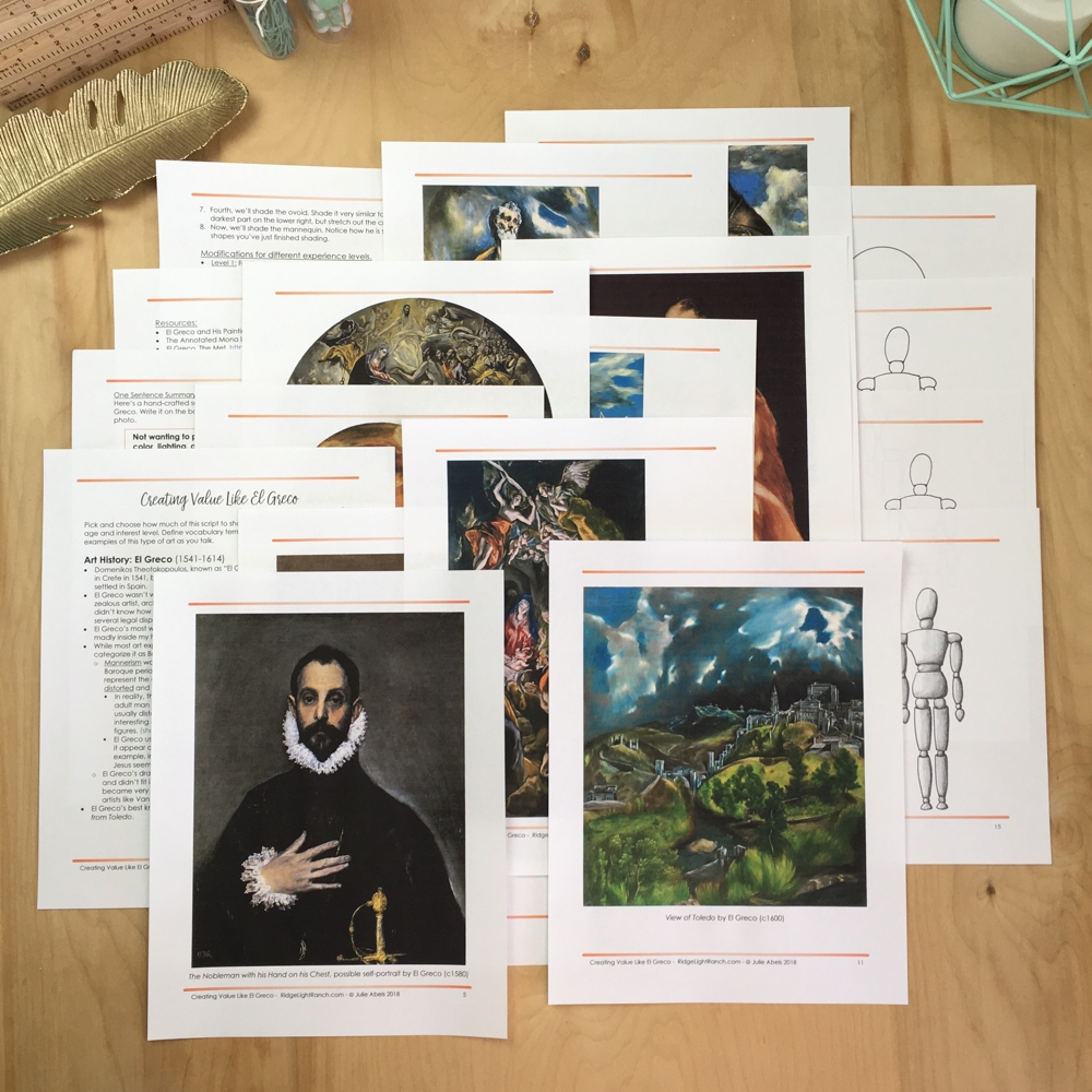 Creating Value like El Greco- C1W18 Lesson Plan