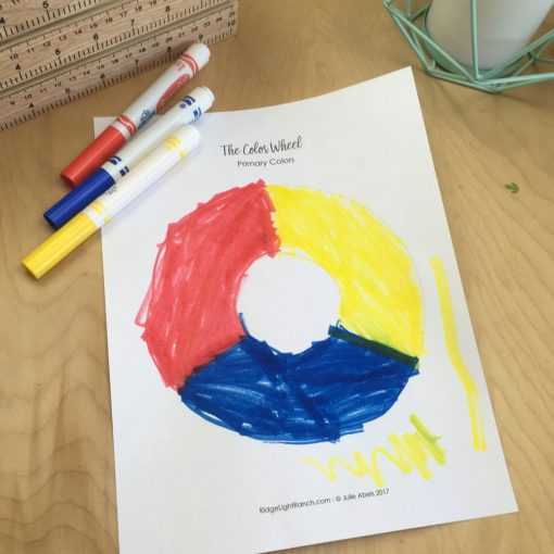 Make a color wheel with marker