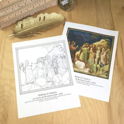 Giotto Coloring Sheet