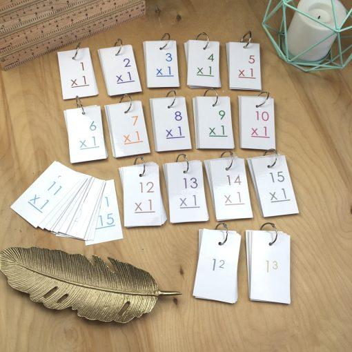 Math Flashcards through 15