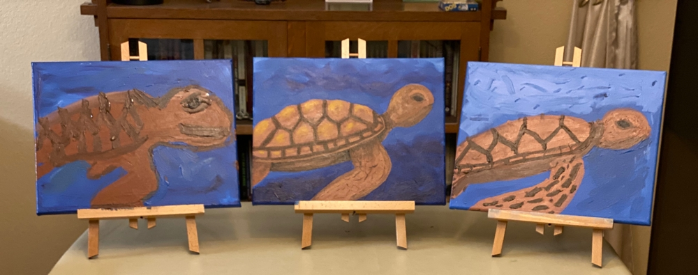 paintings of sea turtles
