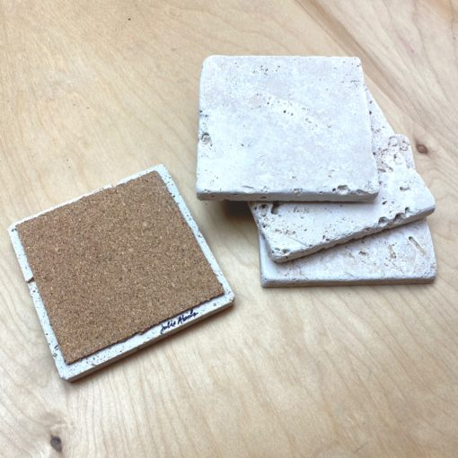 sample blank travertine tile coasters