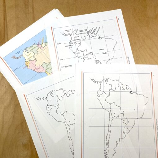 Maps for how to draw South America