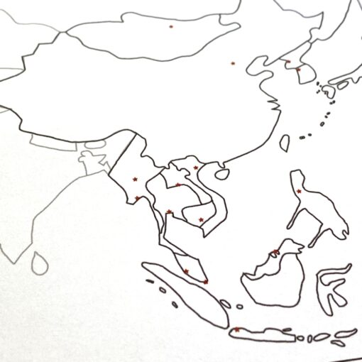 Simplified map of Asia